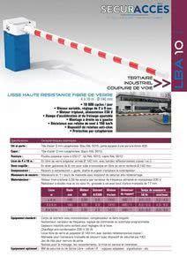 Documentation de la barrière LBA 10
