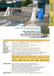 Documentation de la barrière LBA 12 AVB