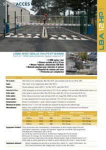 Documentation de la barrière LBA 12 HP